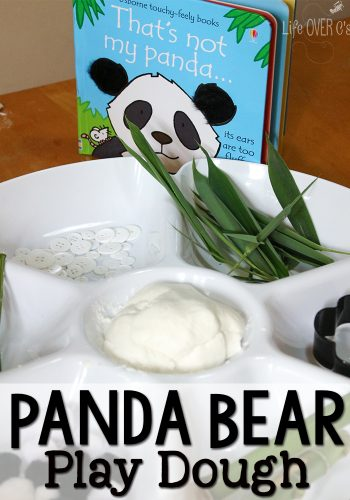 Have fun reading this SUPER cute panda book, then play with some panda play dough!