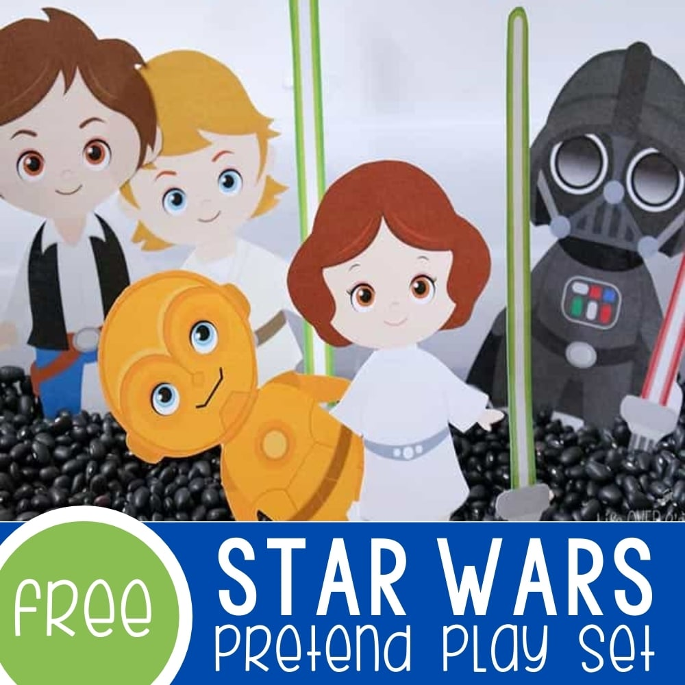 Free Star Wars Play Dough Set for Pretend Play