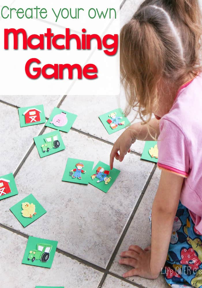 Create your own animal matching game for your preschoolers! Plus lots of other great ideas for a farm theme!