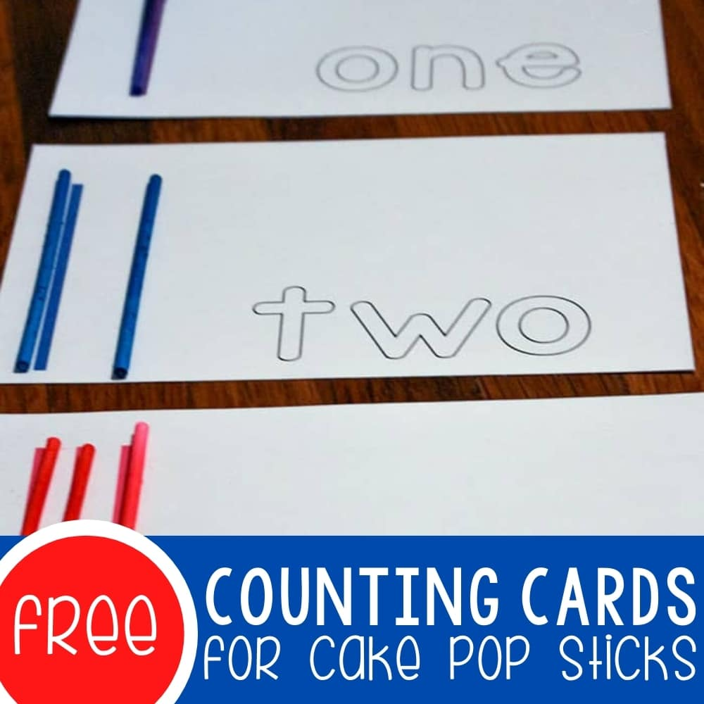 Math Activities & Free Counting Cards for Sticks