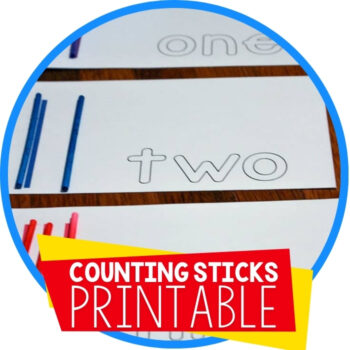 Math Activities & Free Counting Cards for Sticks Featured Image