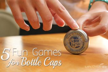 5 fun games for bottle caps! Save your bottle caps from the recycling bin and use them for these fun games!