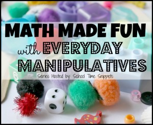 Practice math concepts with these everyday math manipulatives that you may already have!