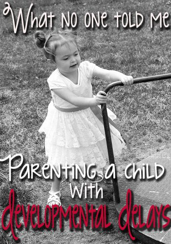 What No One Told Me: Parenting a Child with Developmental Delays. As a parent of a special needs child we talk about so many things. But these are the things no one prepared me for.