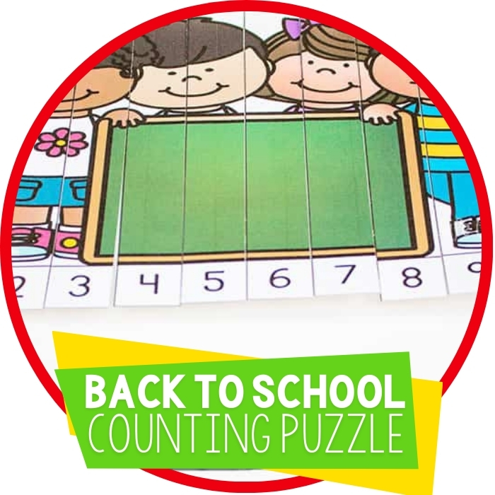Free Back to School Puzzles for Counting to 10