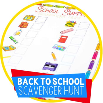 Back to School Scavenger Hunt Printable Featured Image