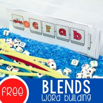 Blends Word Building Activity Featured Square Image