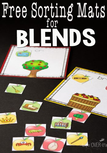 These free blends printable sorting mats are a great way to start the school year! Good for review or introduction of blends to new readers. I can't believe these are free!