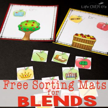 These free blends printable sorting mats are a great way to start the school year! Good for review or introduction of blends to new readers.