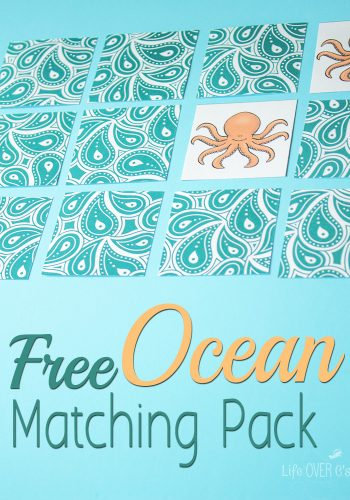 This free ocean matching pack is a fun activity to go along with an ocean theme!