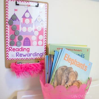 Create a reading reward chart to encourage new readers to do their daily reading assignment!