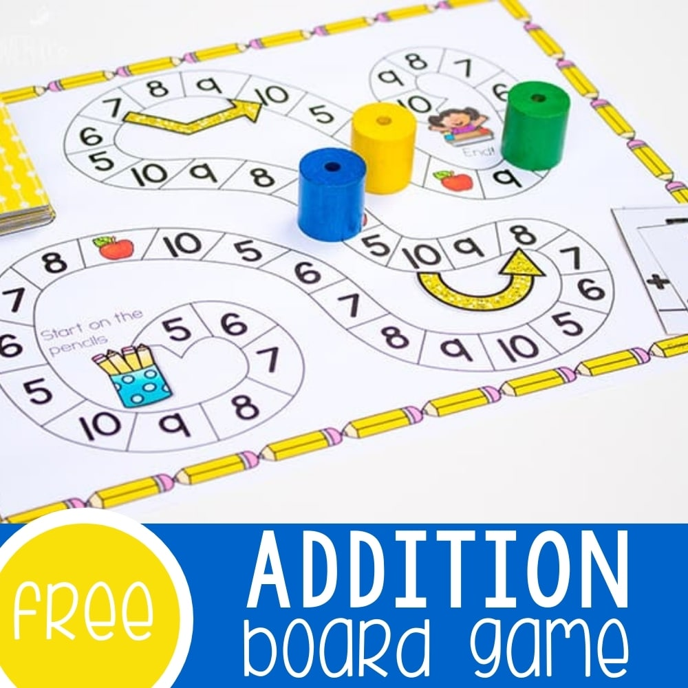 Addition Facts Game Featured Square Image