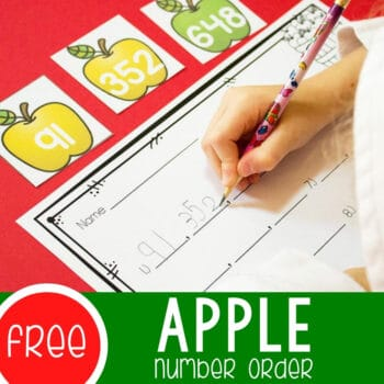 Free Number Order Printable Apples Featured Square Image