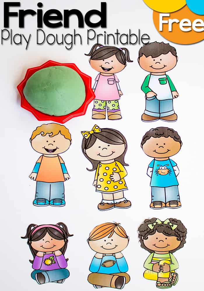 Free Friends Play Dough Printable