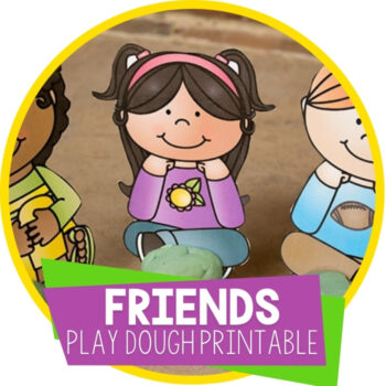 Friends Play Dough Printable Featured Image