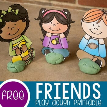 Friends Play Dough Printable Featured Square Image