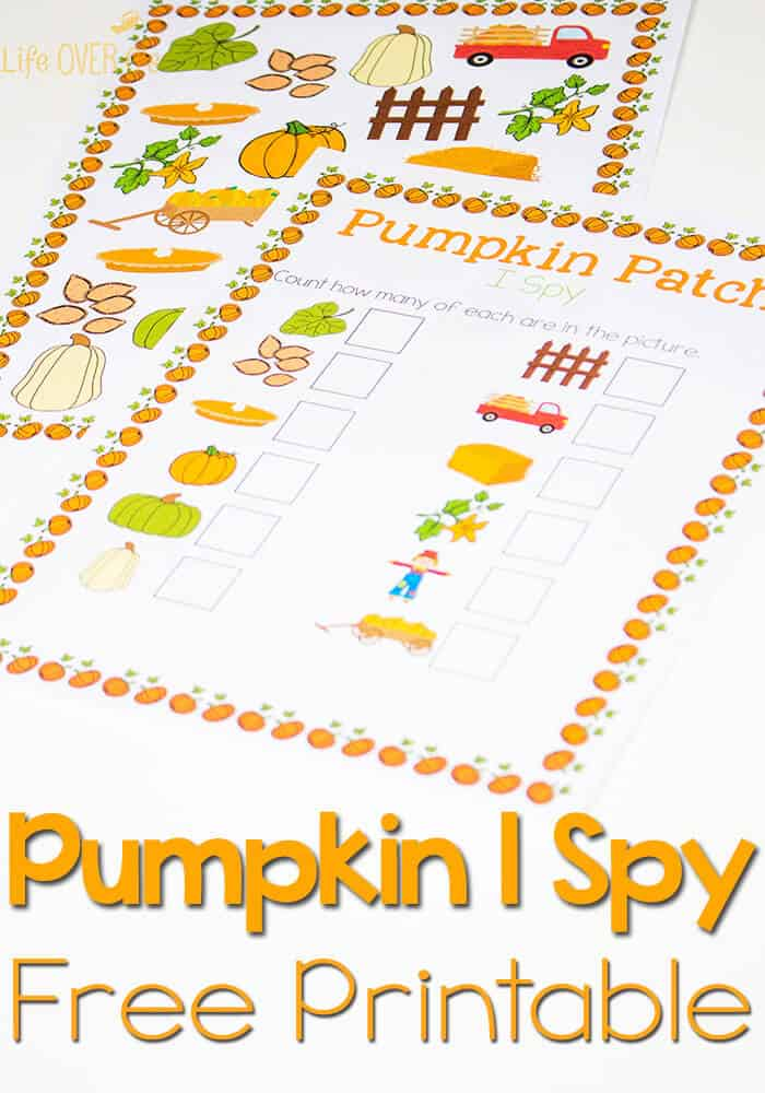 Free Pumpkin Patch I Spy & Scavenger Hunt