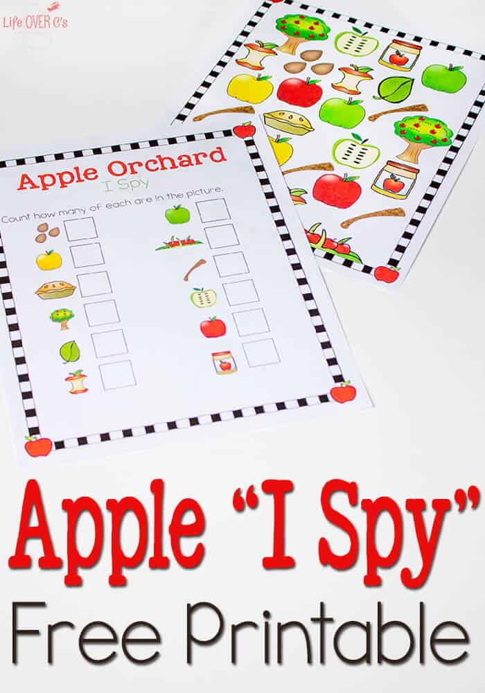 This Free Apple Orchard I Spy & Scavenger Hunt printable is awesome! I love the bright colors!