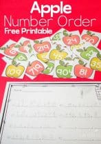 Use these free number order printable apples to practice number order with your students!