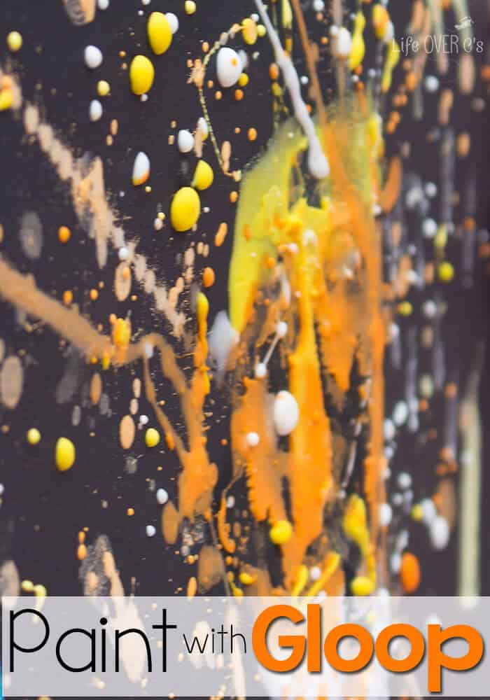 Art and Science! Perfect for STEAM! Process painting with Gloop! This looks like so much fun!