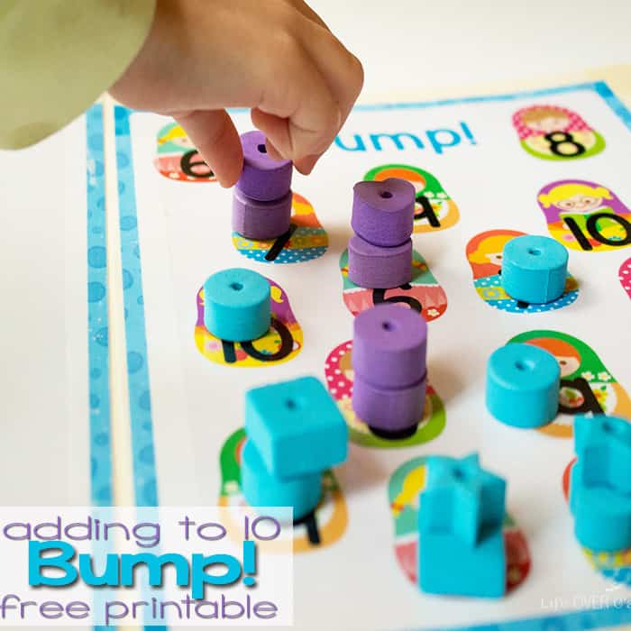 This fun Bump! addition game is a fun way to practice adding to 10. Plus it's FREE!