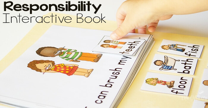 These leveled interactive books for are amazing! Teach responsibility for preschoolers with these engaging books.