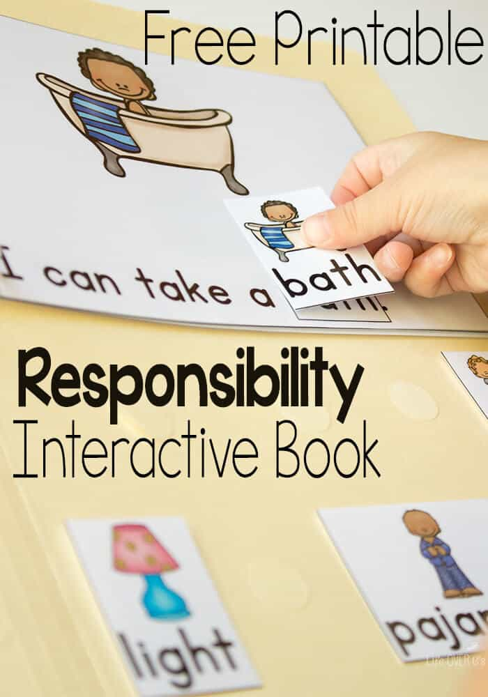 These FREE Leveled Interactive Books For Are Amazing Teach Responsibility Preschoolers With Engaging