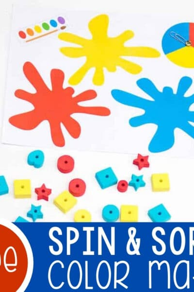 Color Sorting Mats with Spinners Featured Square Image