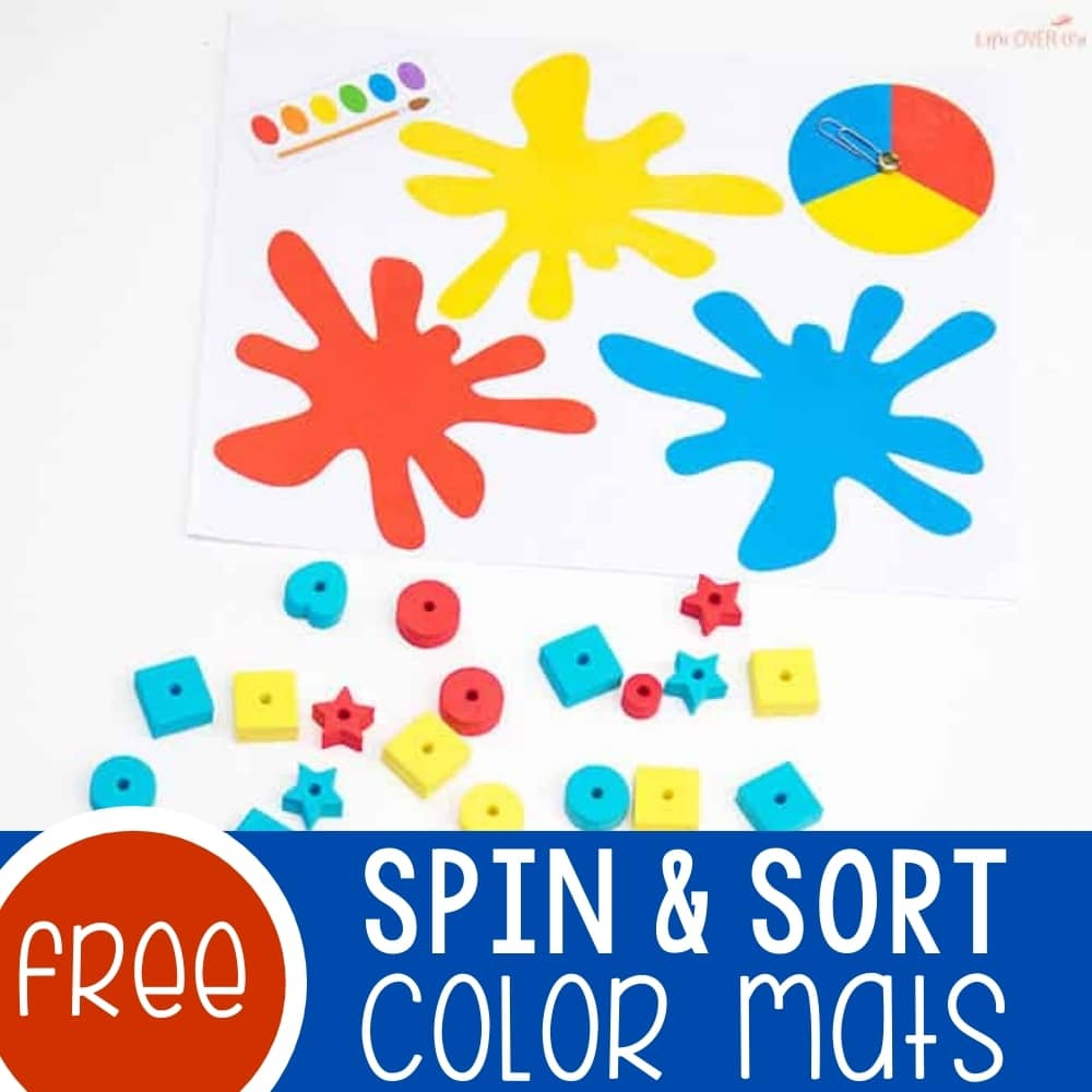 Free Color Sorting Mats with Spinners
