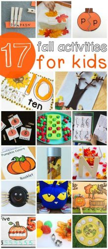Great fall learning activities for your kids! Math, science, fine-motor and more!