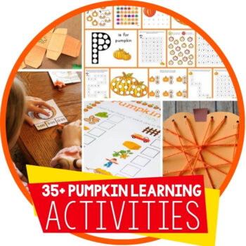 Free Pumpkin Printable Learning Activities Featured Image