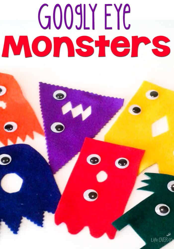 Practice counting with this super cute googly eye monster number match activity!