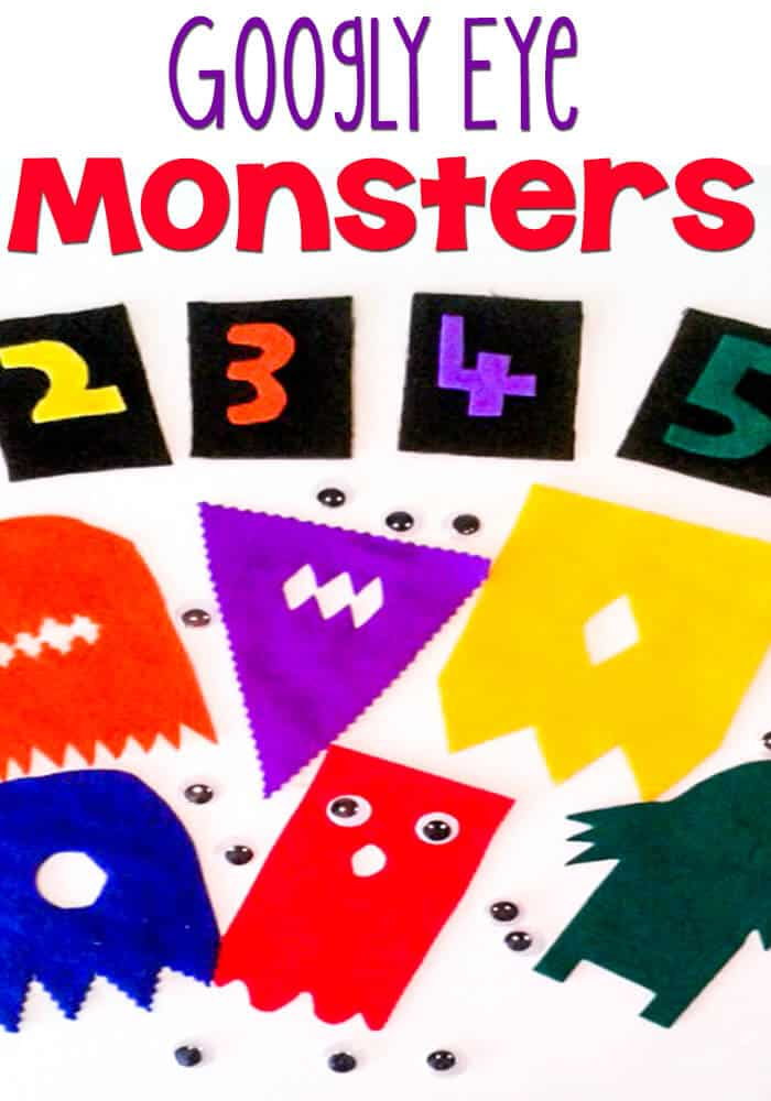 Googly Eye Monster Number Match