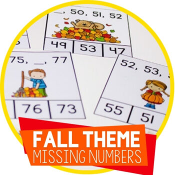 Missing Number Clip Cards for Fall Featured Image