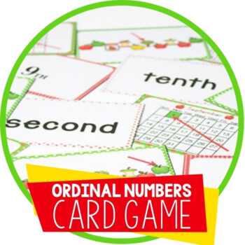 Ordinal Numbers Card Game for September Featured Image