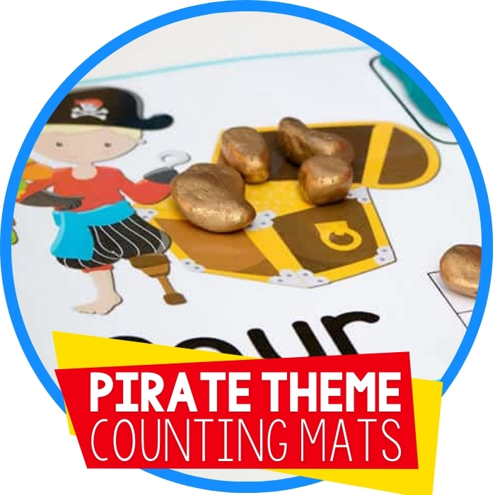 Free Pirate Play Dough Mats Numbers 1-10