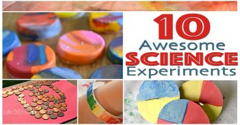 10 Awesome Science Experiments to grab your children's interest! Love these simple, but fun activities!