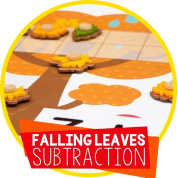 Subtracting with Ten-Frames Leaf Theme Featured Image
