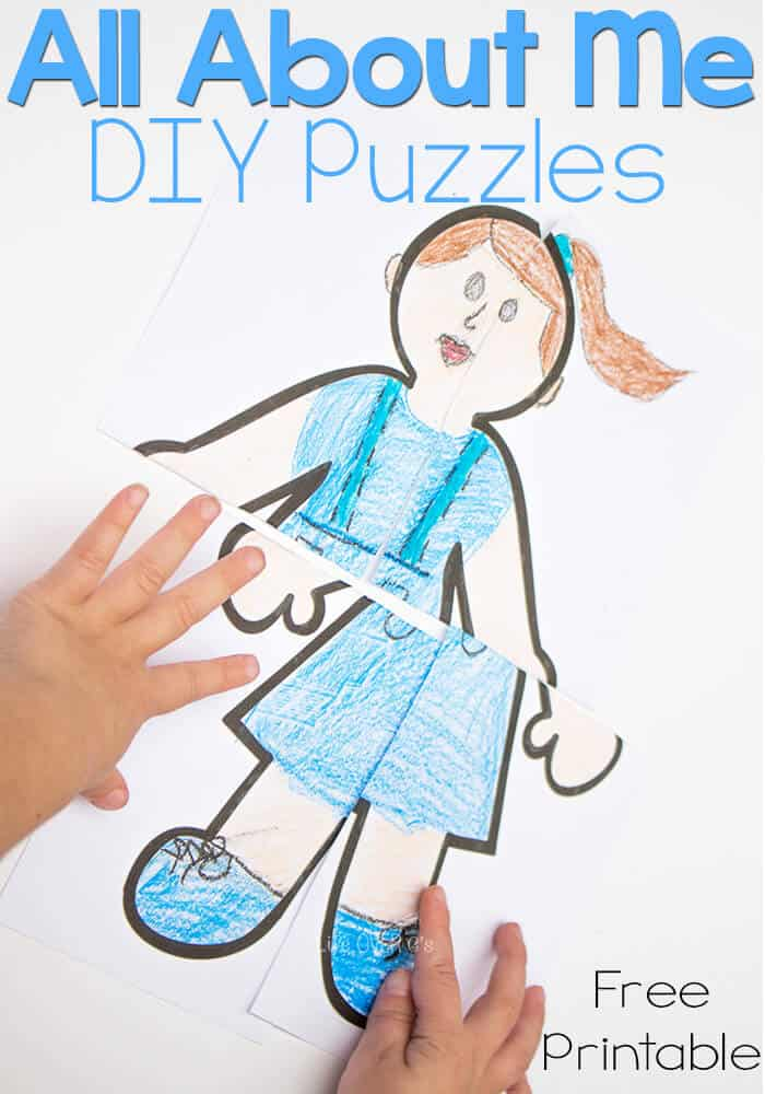 All About Me DIY Puzzles for Preschoolers