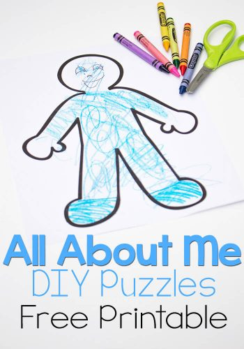 These 'all about me' DIY Puzzles are so cute! Kids can draw themselves and then create a puzzle!
