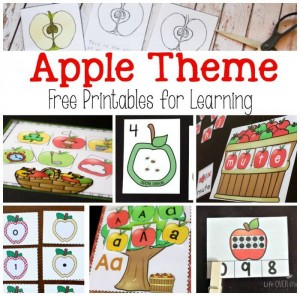 Loads of apple theme free printables for learning! More added regularly. Pin this so you can see all the latest ones!