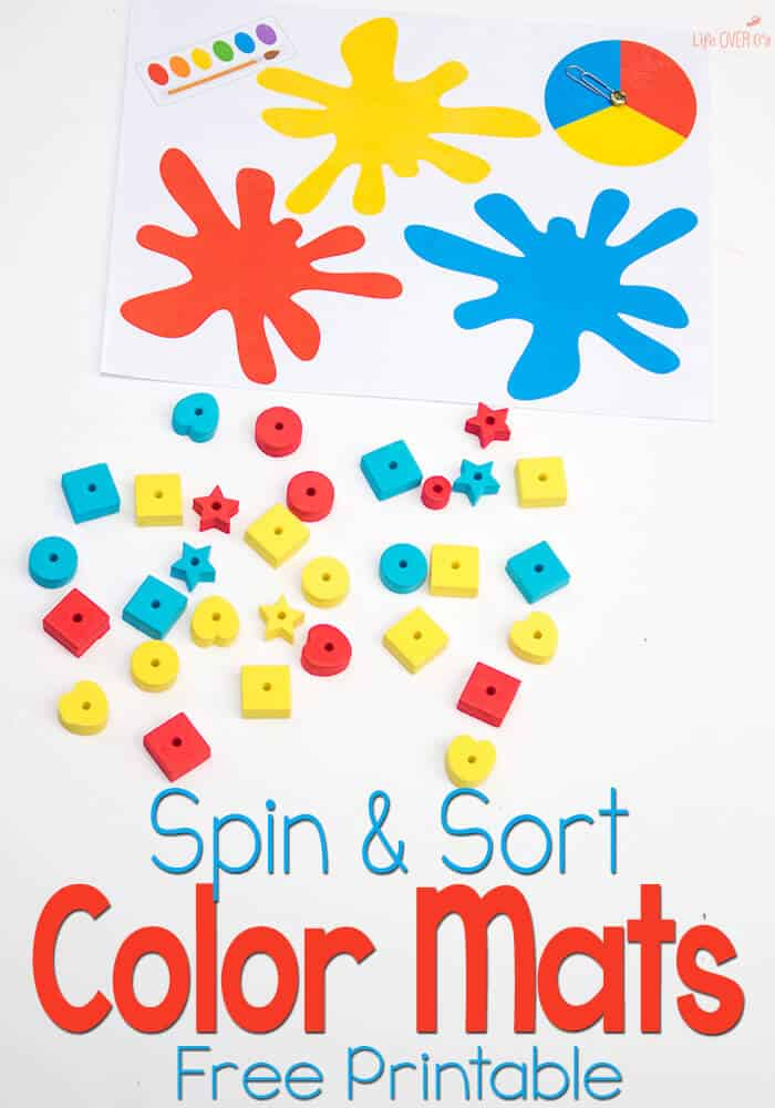 Free Color Sorting Mats with Spinners - Life Over C\'s