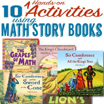 10 Absolutely fun, hands-on activities using math story books! A great way to capture kids' attention while learning!