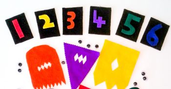 Practice counting with this super cute googly eye monster counting activity!