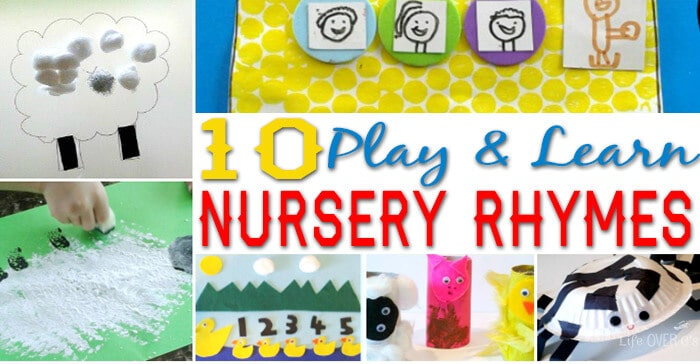 These 10 Nursery Rhyme Activities are amazing! Great for fine-motor, they are the perfect complement to your nursery rhyme themes.