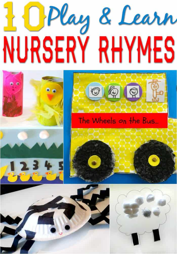 10 Play and Learn Nursery Rhyme Activities