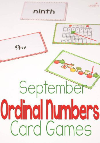 This ordinal number card game is a great way to practice those tricky numbers! My kids love it and always beg for more!