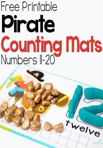 These free printable pirate play dough mats for numbers 11-20 are great! There are so many ways to use them. Plus, there is a link to the mats for numbers 1-10