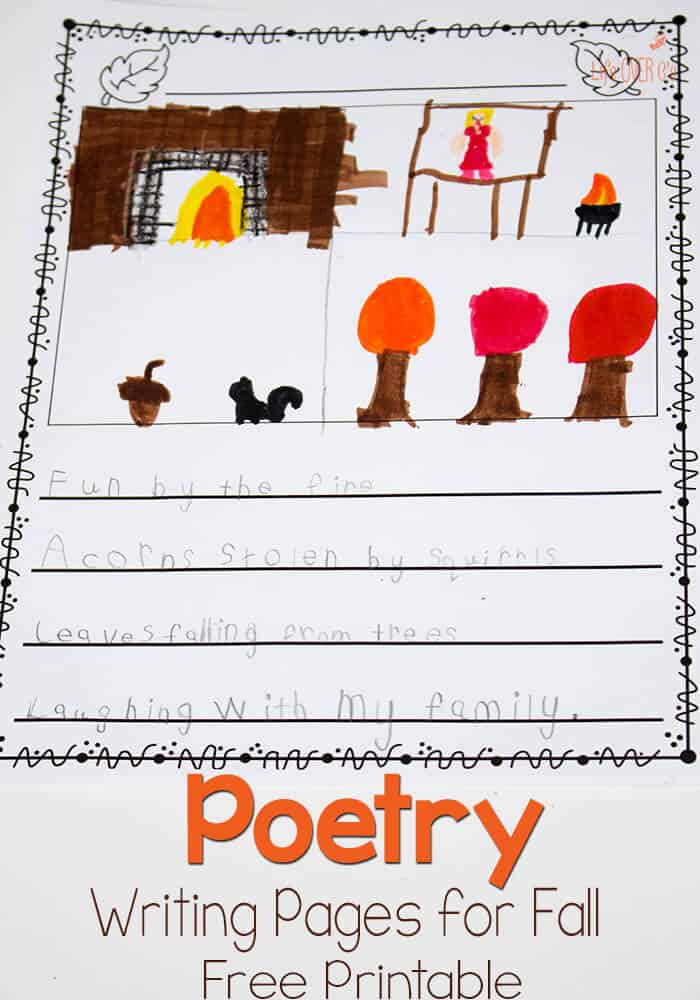Free Printable Poetry Pages for Fall