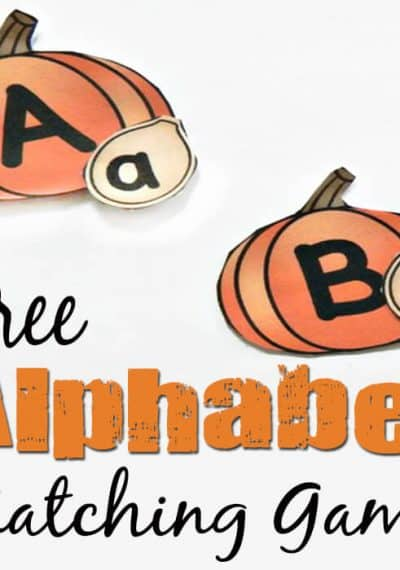 This free pumpkin alphabet matching game is a fun way to practice uppercase and lowercase letters with your kids this fall!